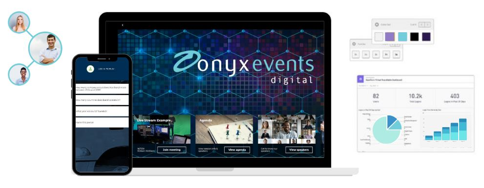 Bespoke virtual event platform Onyx Events